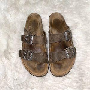 Birkenstock brown sandals size 45